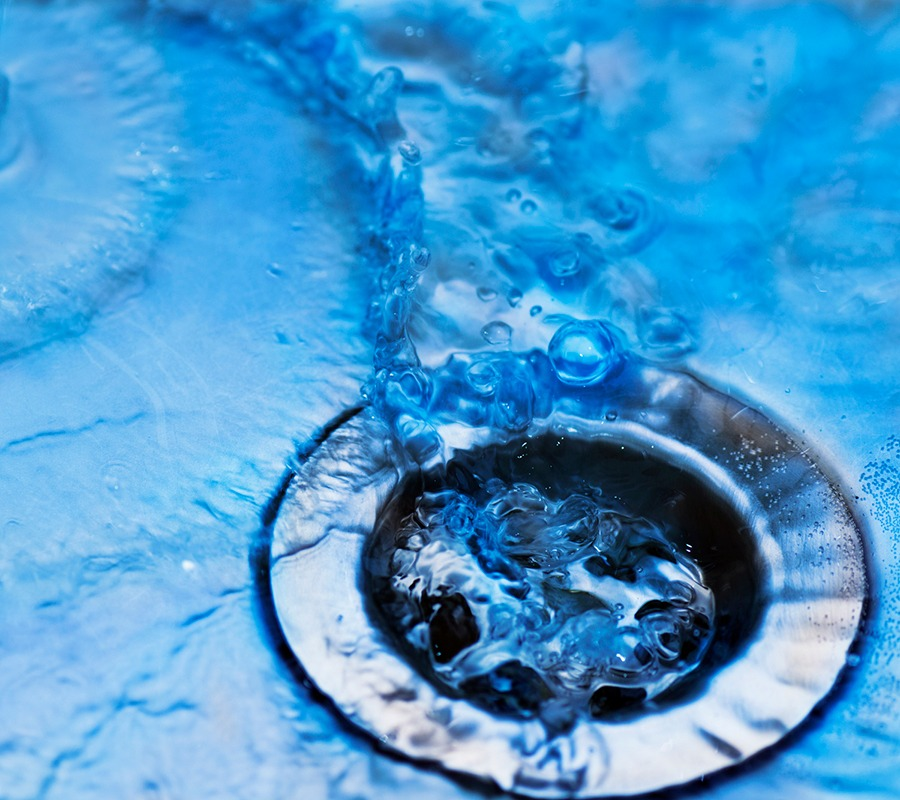 Hydro-jetting clears clogged drains.